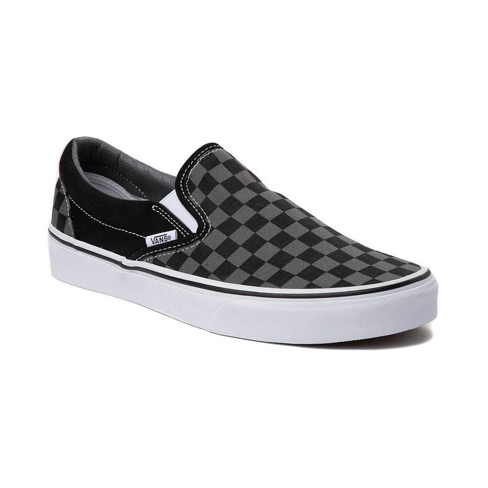 Vans Slip On Checkerboard Skate Shoe - Gray / Black | Vans ...