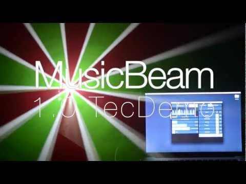 Music Beam uses the actual light coming from the projector