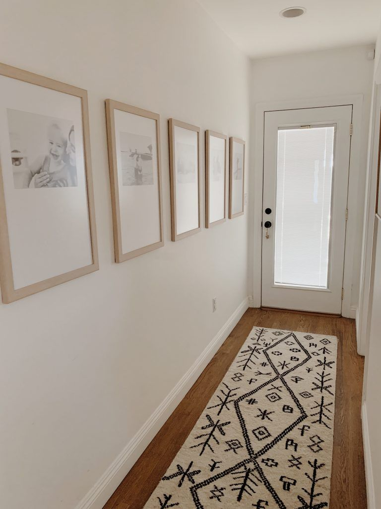 Photo of our simple hallway makeover – almost makes perfect