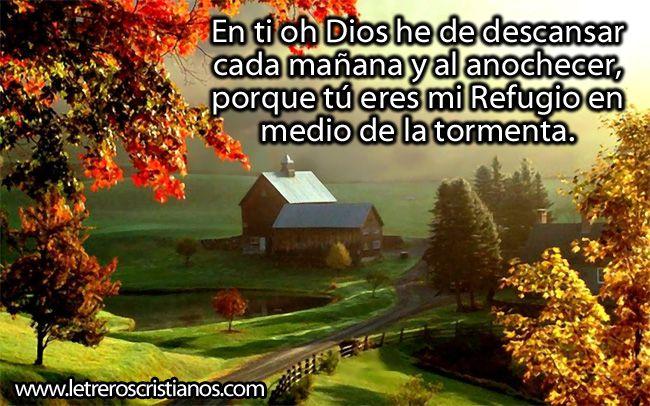 En ti he de descansar oh Dios « Letreros Cristianos.com ...