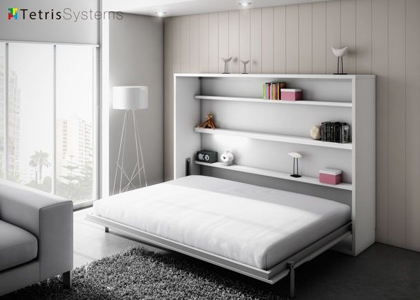 Cama abatible 2 casa bed in closet murphy bed y diy - Cama plegable escritorio ...