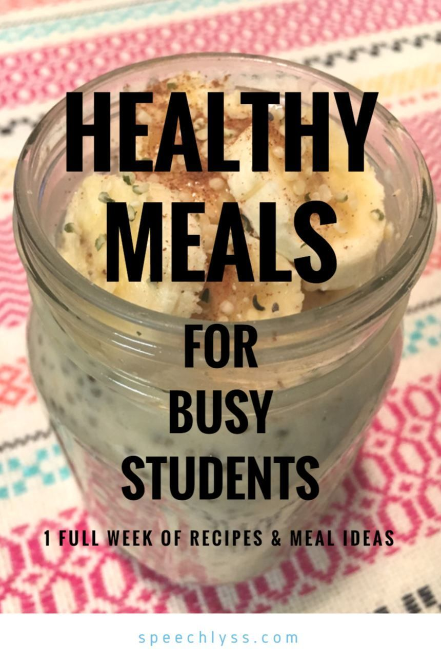 1 Full Week of Grad School Healthy Meals & Recipes images