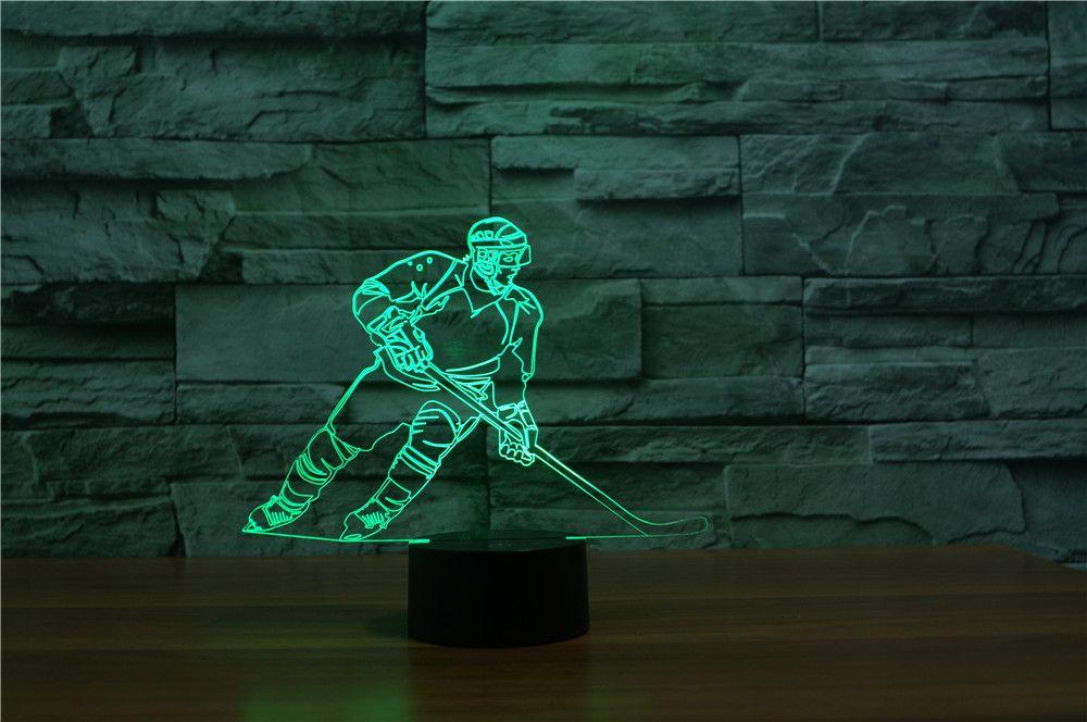 Hockey 3d Illusion Lamp 3d Illusion Lamp 3d Led Lamp 3d Illusions