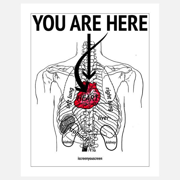 You Are Here Print 22x28