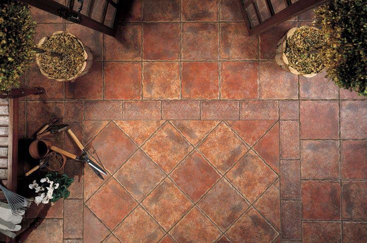 Cobre pavimento gres exterior 31 6x31 6 cm mate jardines for Pavimentos para terrazas exteriores