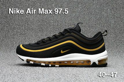 pretty nice 19445 59535 2017 2018 Daily Nike Air Max 97.5 Black Gold Running Shoe For Sale ...