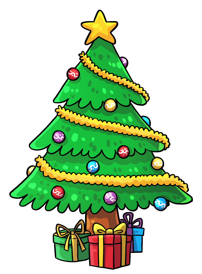 Cartoon Christmas Tree ClipArt Best องค์ประกอบศิลปะ