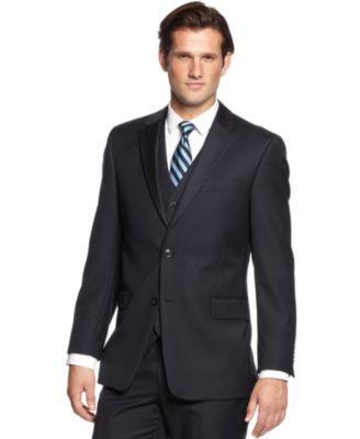 TOMMY HILFIGER Tommy Hilfiger Navy Tonal Stripe Classic-Fit Jacket . #tommyhilfiger #cloth # blazers