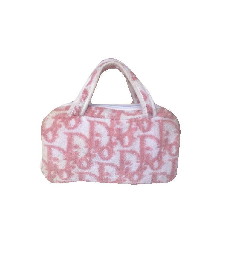 20b99529e5f Dior Pink Monogram Terry cloth Small Bag | FREAKYGRRL in 2019 | Bags ...