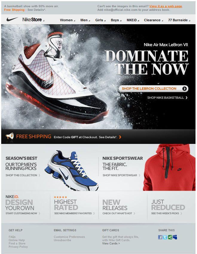Dictado Tibio tirano  Nike email design | Email design inspiration, Email design, Nike id