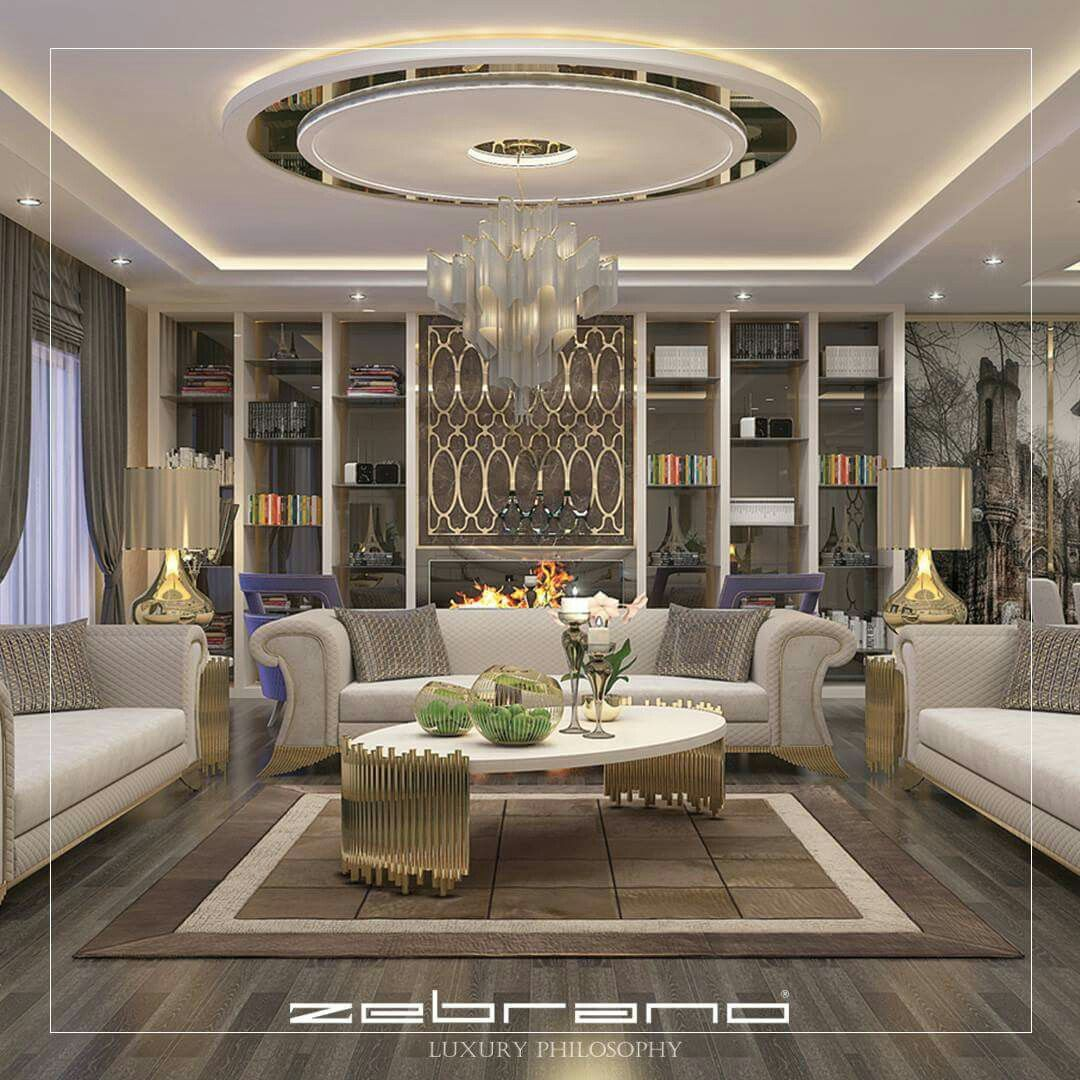 Modern Interior Decoration Living Rooms Ceiling Designs: Interior Image By Danijela Urukalo