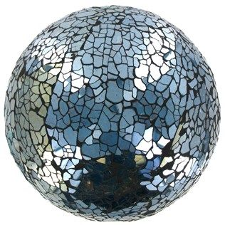 4 Turquoise Glass Mosaic Deco Ball Shop Hobby Lobby Need A Bowl Full Of These