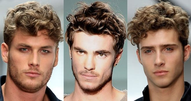 Men's Hairstyles Trends 2014 for curly hair. Boys who want to look handsome and charismatic should try this style. Hairs with ruff and loose...