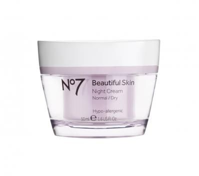 Boots No7 Beautiful Skin Night Cream Normal Dry Best Night Cream Night Creams Moisturizing Facial Cream