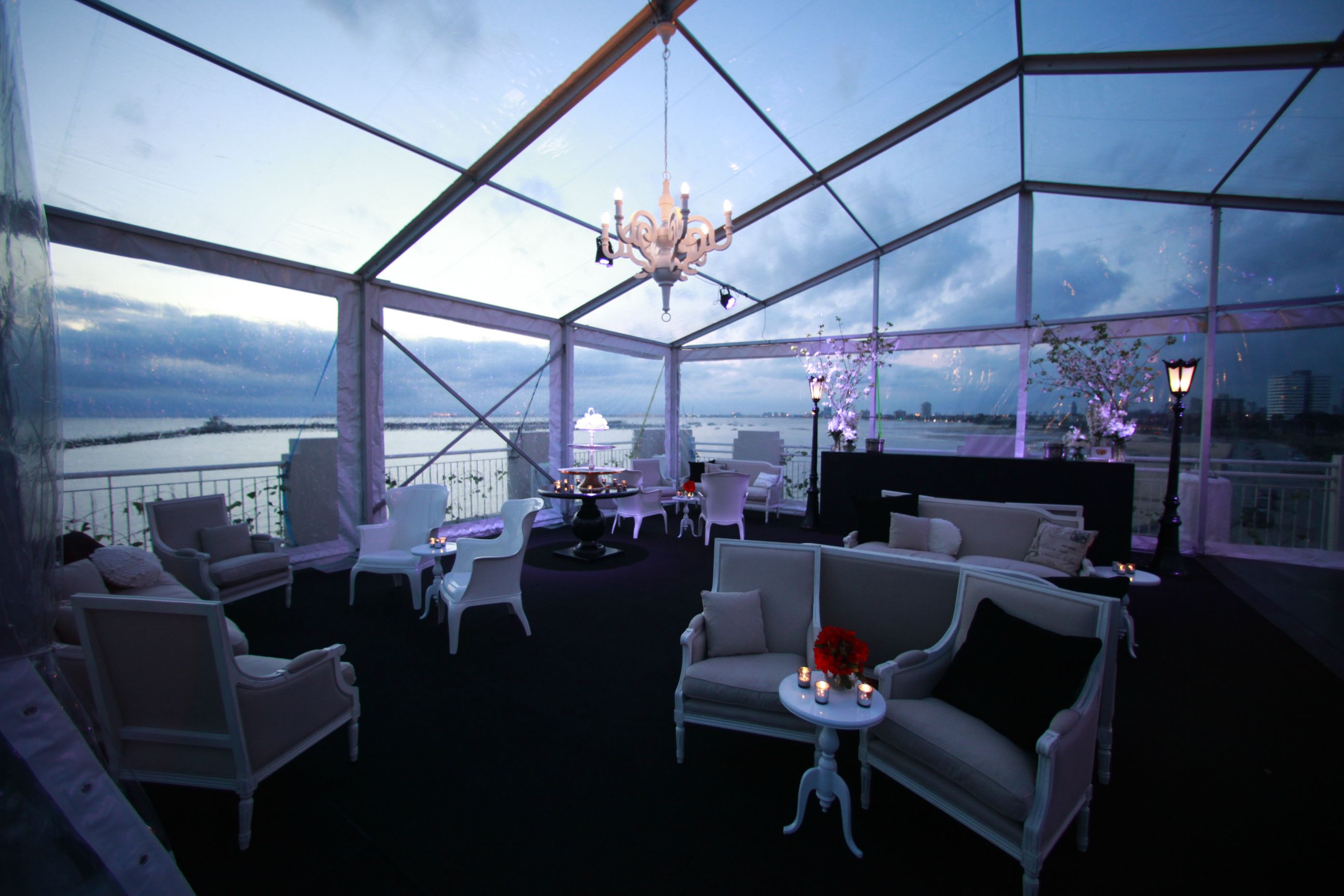 Remarkable Rooftop Marquee With See Through