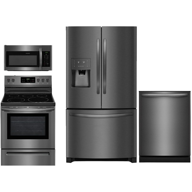 Frigidaire 4 Piece Kitchen Appliance Package With Electric Range Kitchen Appliance Packages Kitchen Appliances French Door Refrigerator