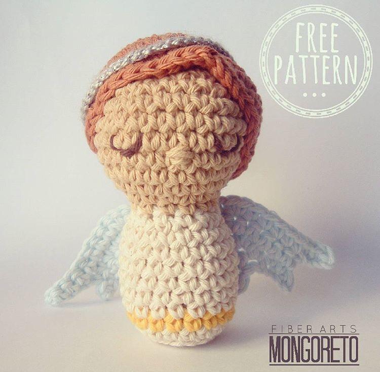 Fantástico Ganchillo Modelo Ornamento ángel Embellecimiento - Manta ...