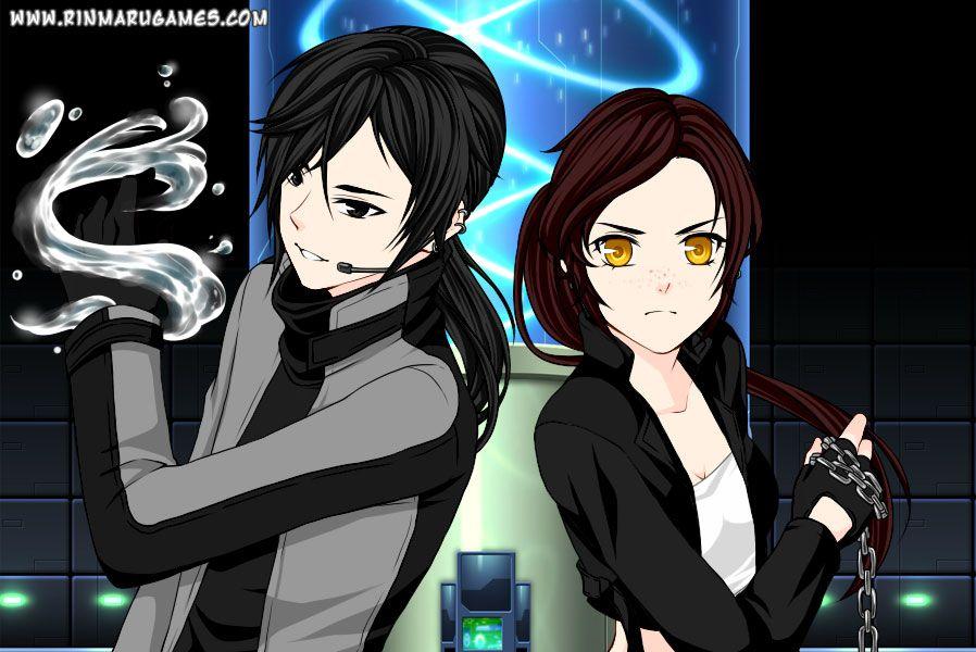 Anime partners dress up game screen shot 1