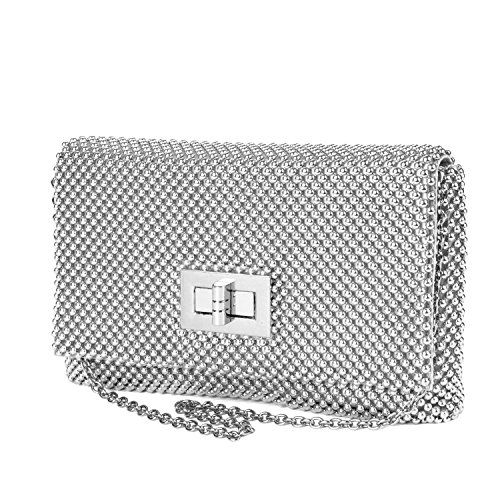 Jessica McClintock Trina Metal Mesh Elegant Womens Clutch Shoulder Bag *** Find out more about the great product at the image link.