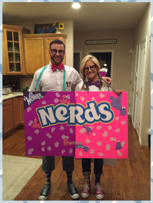 Nerd Costume Nerds Candy Halloween Candy Costume Cotton Candy Costumes Diy Candy Costumes In 2020 Halloween Coatumes Candy Costumes Teacher Halloween Costumes