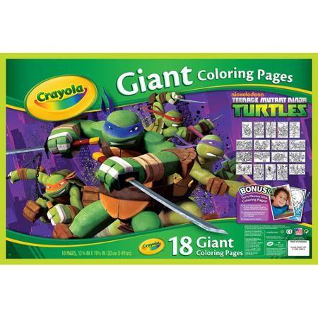 Crayola Teenage Mutant Ninja Turtles Giant Coloring Pages