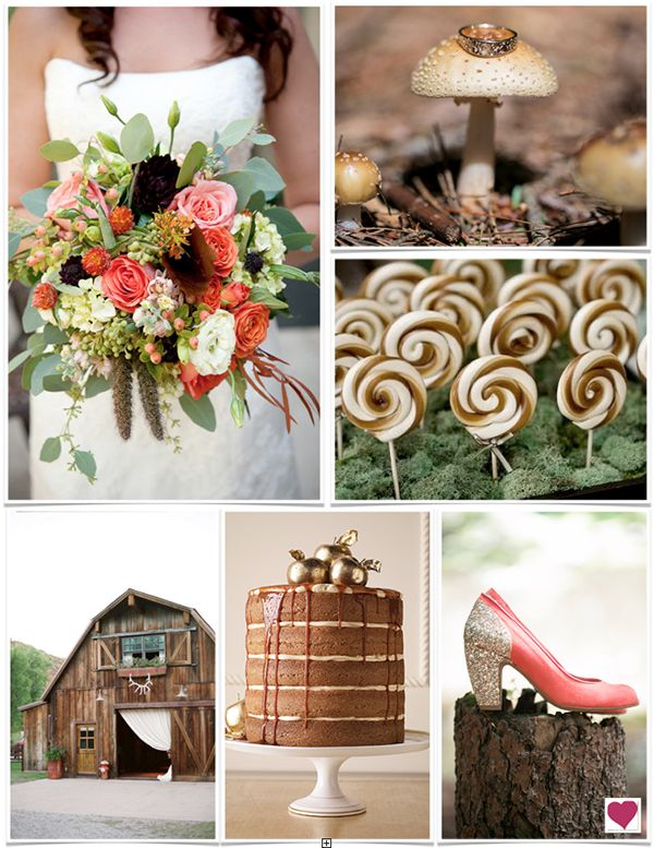 Rustic Coral and Brown Wedding Ideas and Inspiration | Wedding ...