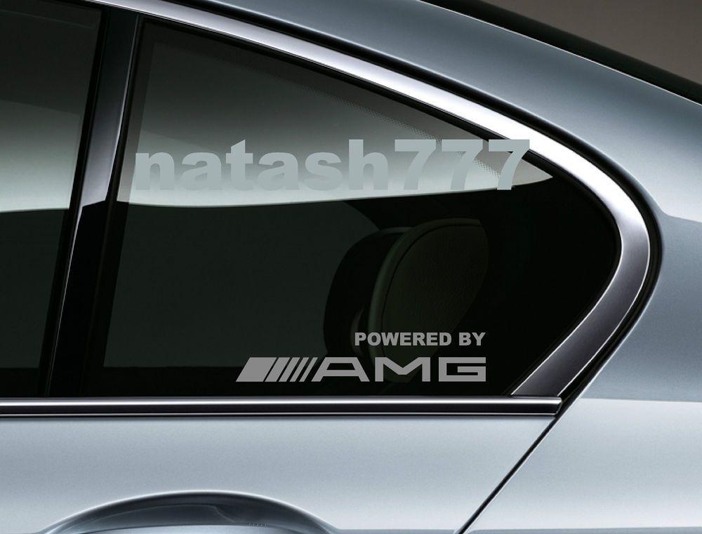 Powered By Amg Mercedes Benz Sport Racing Window Decal Sticker Emblem Silver Konzept Design