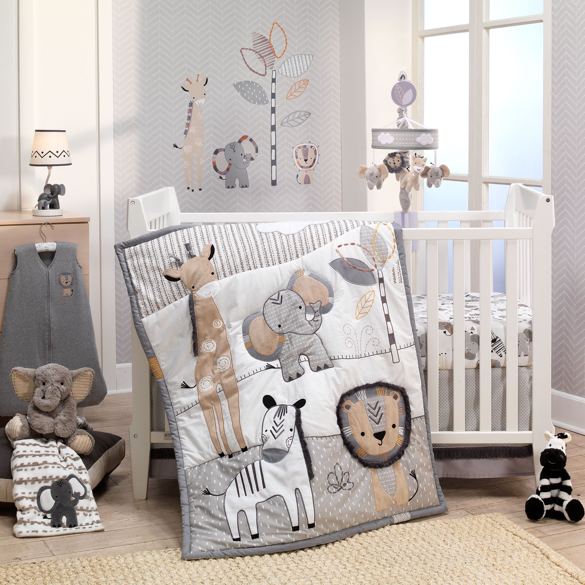 Jungle Safari 6 Piece Baby Crib Bedding Set Baby Bedding Sets Baby Crib Bedding Sets Baby Bed
