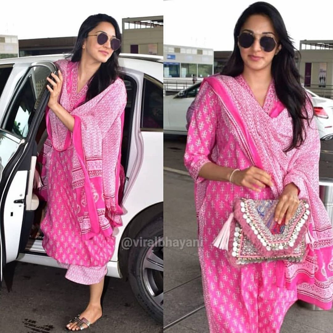 Image result for kiara advani in pinki printed kurta