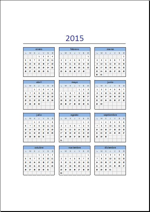 Calendario Dicembre 2019 Excel.Calendario Excel 2015 Ugyud Kaptanband Co