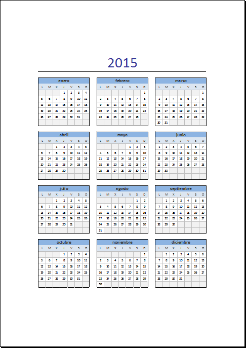 calendario excel - Gidiye.redformapolitica.co