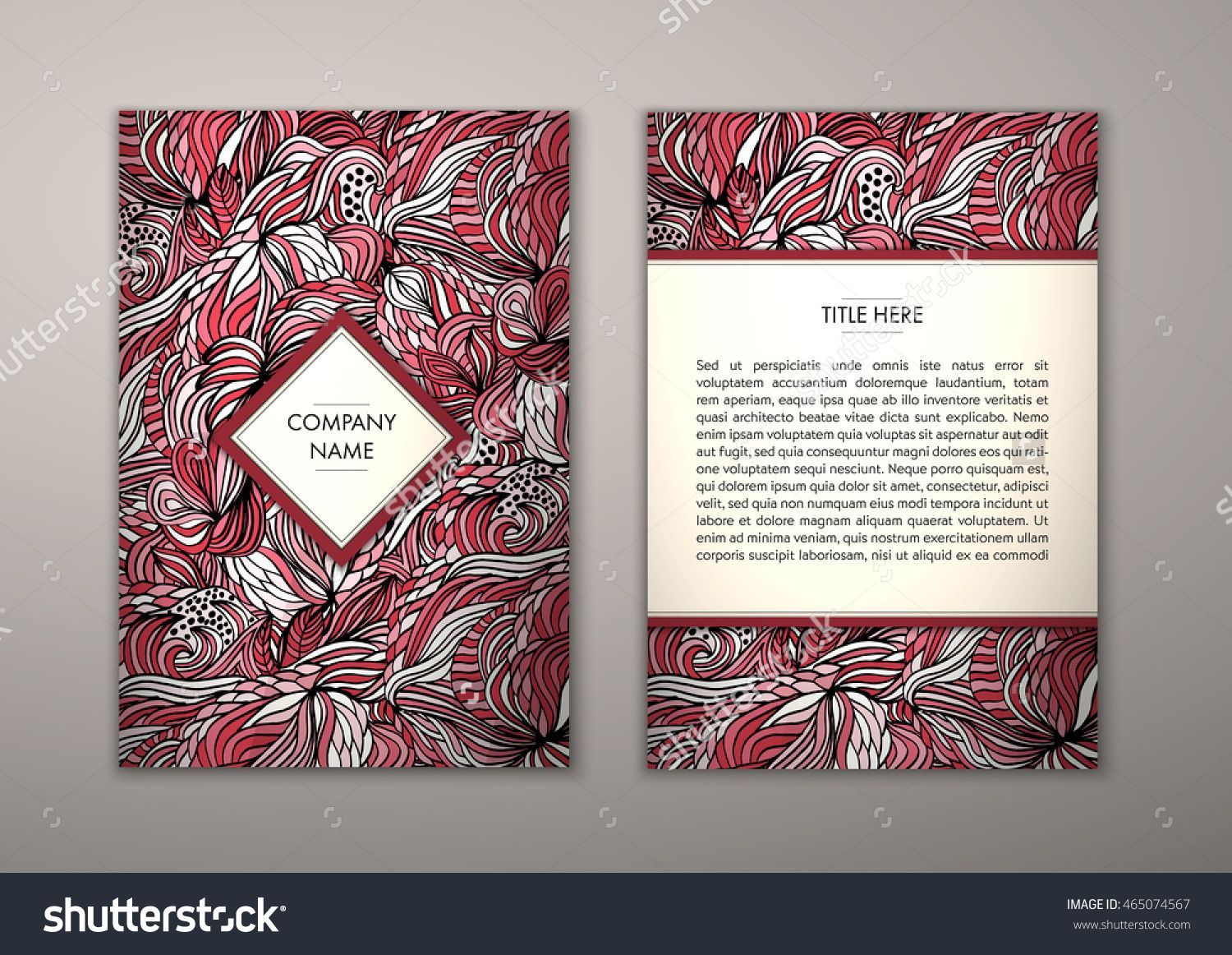 Flyer Template With Abstract Ornament Pattern Vector Greeting