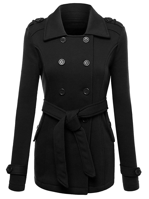 Black Red Color Long Spring Thick Women Leather Coat Waist Strap Pocket Jacket