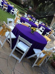 Purple And Gold Tables Lsu Themed Dinner Party