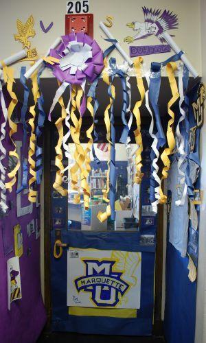Cheer camp door decorations google search cheerleader for Hotel door decor