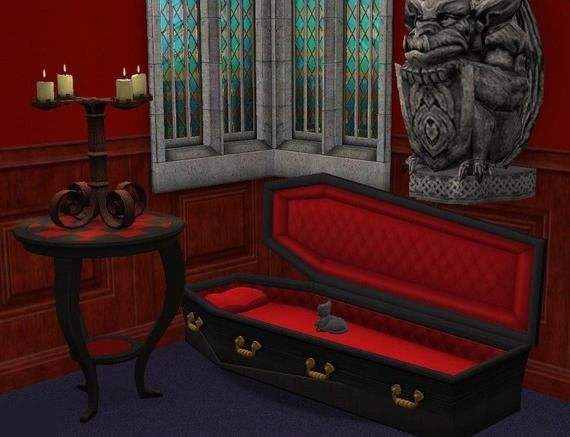 Theninthwavesims The Sims 2 Coffin Pet Bed Sims 2