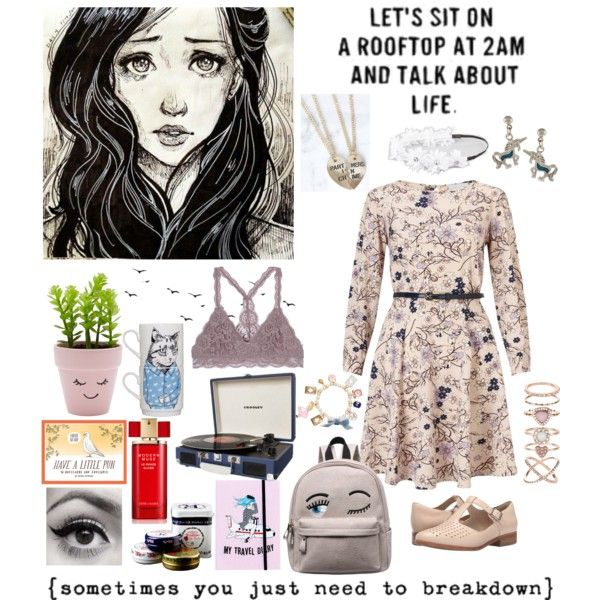 INFP Manic Pixie Dream Girl by coaxingelf on Polyvore featuring polyvore,  fashion, style,