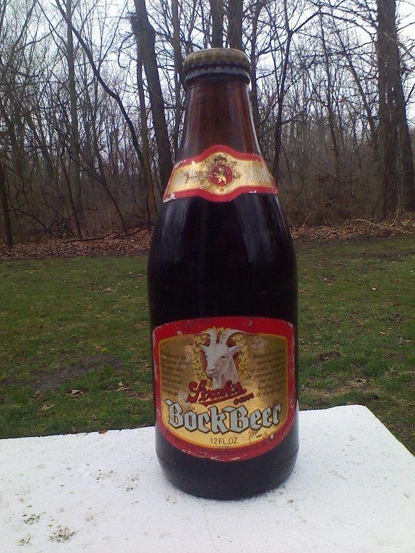Vtg 1970 S Stroh S Own Bock Beer Bottle 12oz Michigan 5 Goat