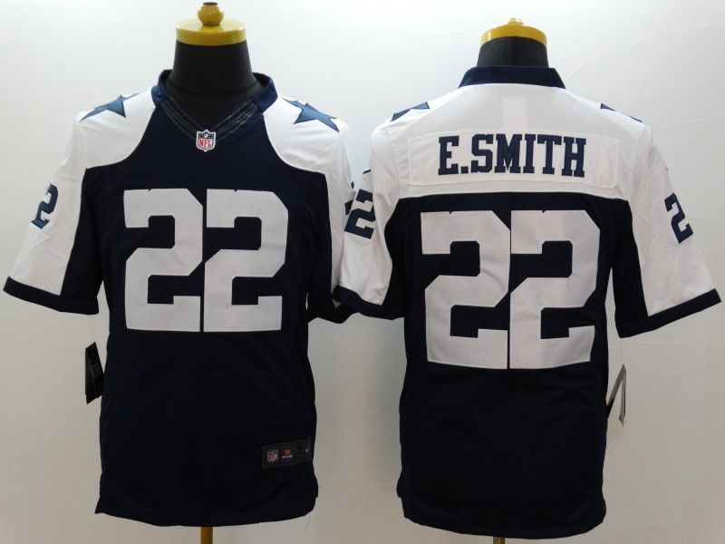 purchase cheap 9fe2c 0aa3c Dallas Cowboys 22 ESmith Blue Thanksgiving LIMITED Jersey ...