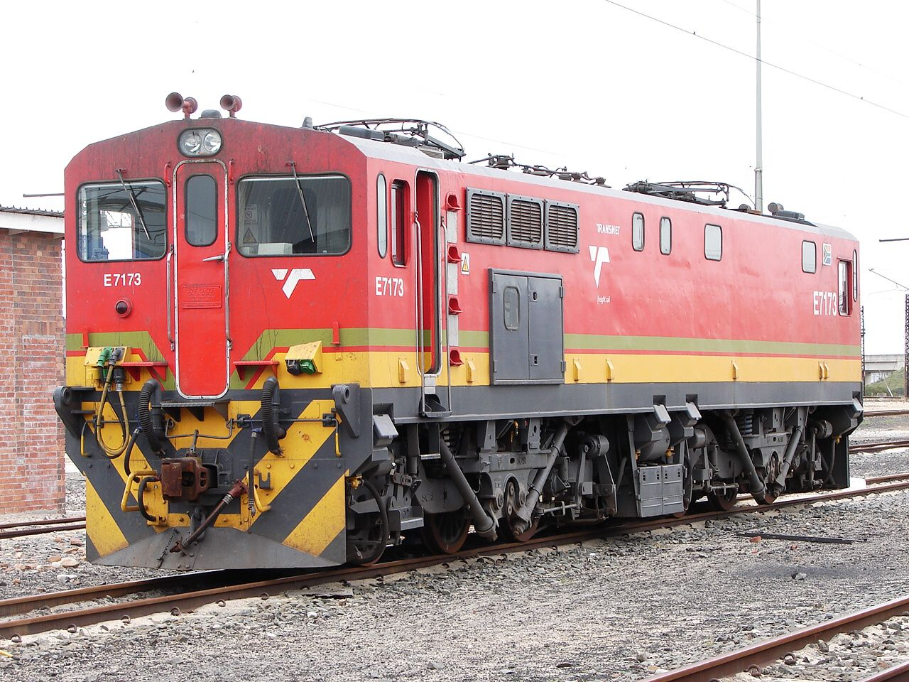 TransNamib E7173 in Namibia   Transnet locomotives in 2019   Train