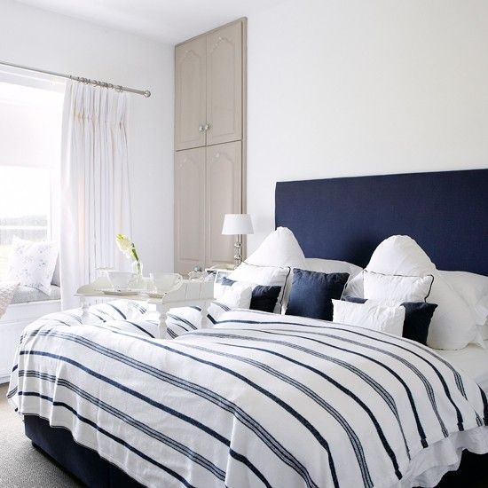 Navy And White Bedroom | Country Decorating Ideas | Country Homes U0026  Interiors | Housetohome