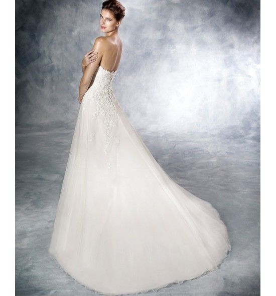 Jadira Vestido De Novia White One De Encaje Y Con Escote Corazon