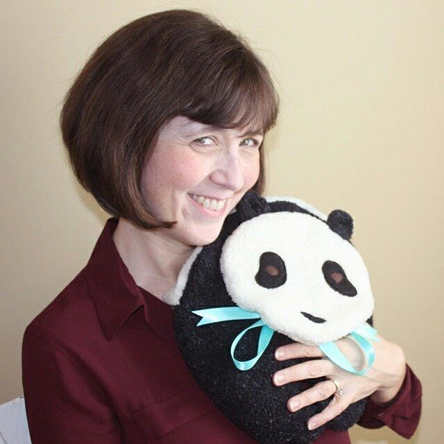 """This Panda Microwave Heating Pad is a gift that brings a smile on February 14th. Panda will snuggle and keep your Valentine warm and happy this winter and for years to come! See website link in bio, and look for """"Comforting Creatures"""" under """"All Products"""" on home page. #mainewarmers #microwaveheatingpads #comfortingcreatures #bedwarmers #bodywarmers #handwarmers #panda #pandalovers #ilovepandas #pandabear #valentinesgift #happyvalentinesday #instapanda"""
