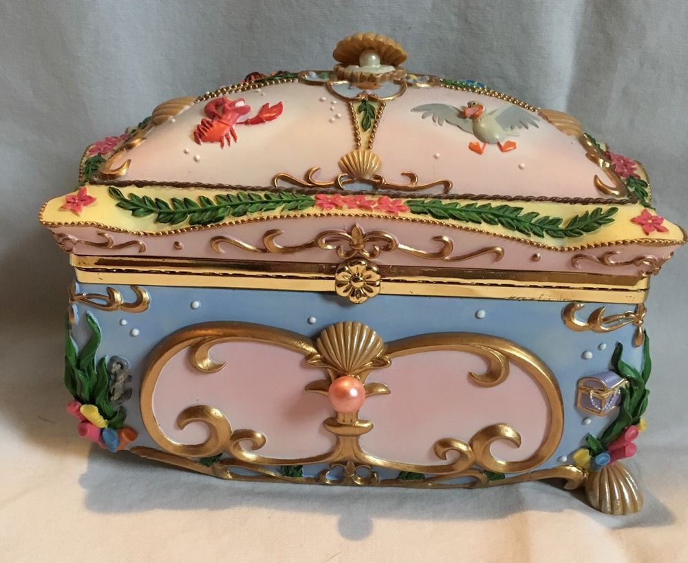 Disney The Little Mermaid Deluxe Music Box Jewelry Box Ariel