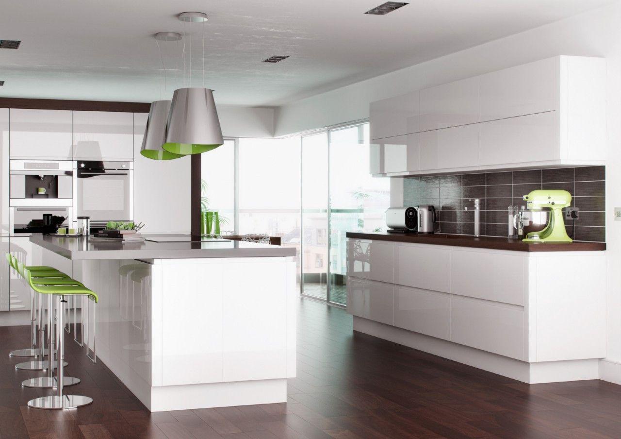 9+ Shiny White Kitchen Cabinets   Apartment Kitchen Cabinet Ideas ...