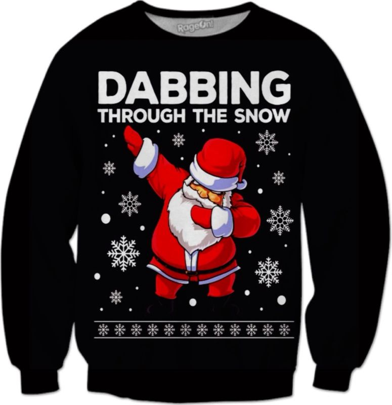 Dabbing Through The Snow Santa Christmas Dab Kids Sweatshirt Gift Idea