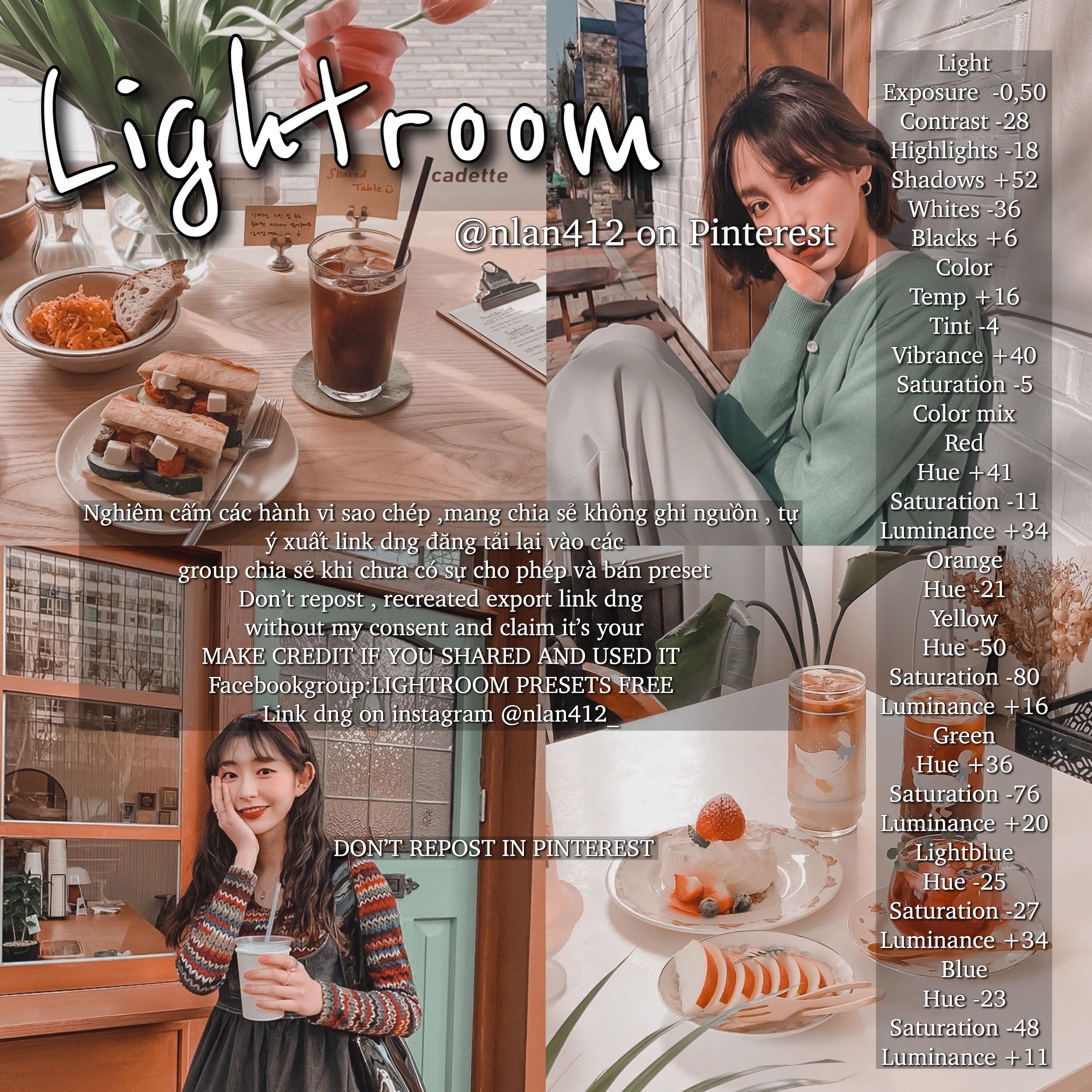 Make a preset in lightroom