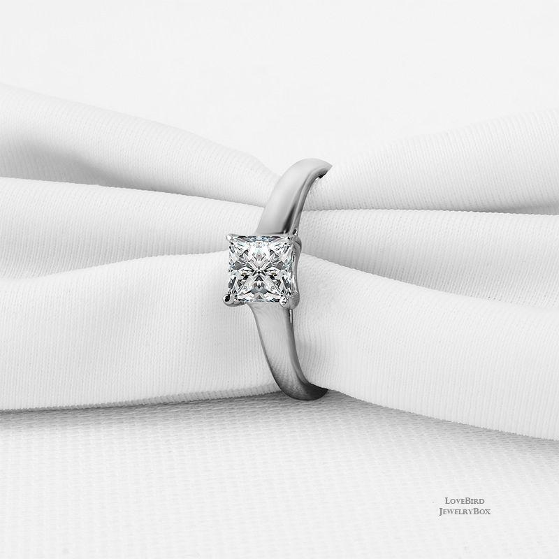Gnzoe Fashion Jewelry Silver Plated Women Finger Rings Elegant Hollow Vine Shape Wedding Band Blue CZ Zircon