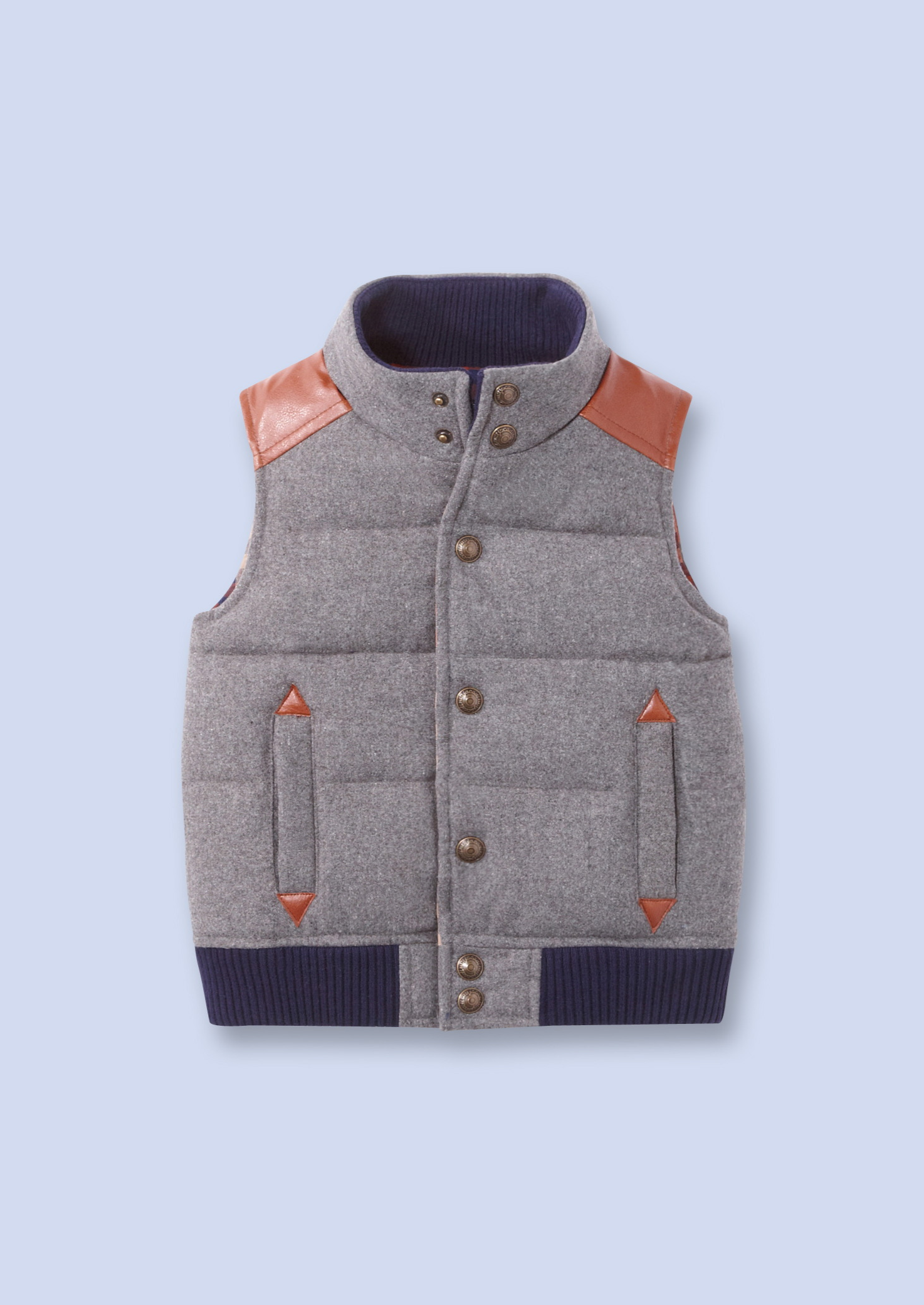 grey flannel puffer vest from French children's clothing ...