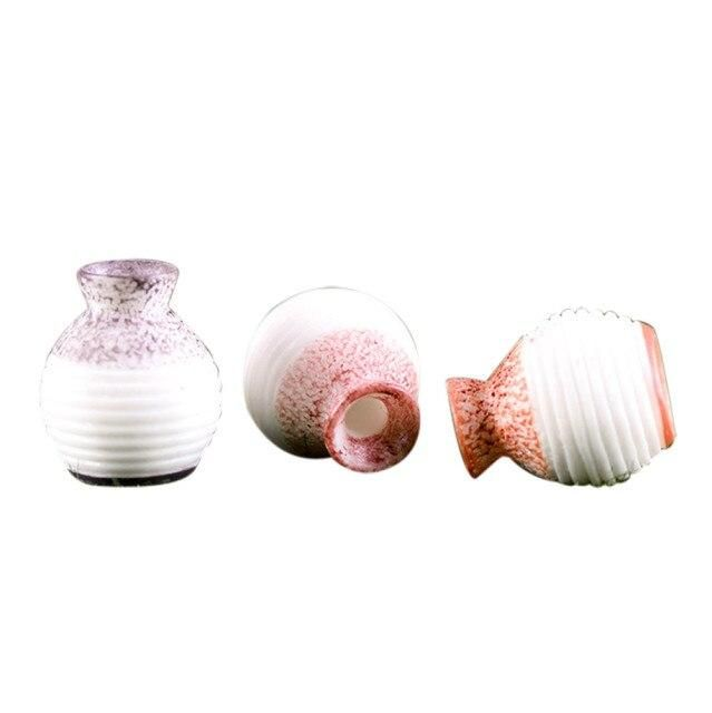 Photo of Resin Miniature Small Mouth Vase DIY Craft Accessory Home Garden Decoration Accessories Home Decoration Fine-cut Vase Ornament – Random color / China